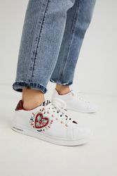 Sneakers classiques brodées - WHITE - 39 - Desigual - Modalova
