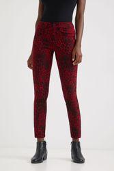 Pantalon slim animal print - RED - 38 - Desigual - Modalova