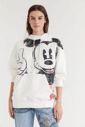 Sweat-shirt capuche coton imprimé - WHITE - M - Desigual - Modalova