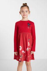 Robe trapèze fleurs - RED - 5/6 - Desigual - Modalova