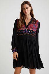 Robe courte viscose boho - BLACK - M - Desigual - Modalova