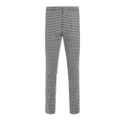 Pantalone Ami a quadretti in cotone ecrù e nero - AMI PARIS - Modalova