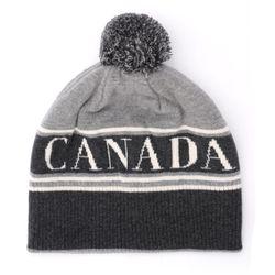 Chapeau en laine grise avec pompon - Canada Goose - Modalova