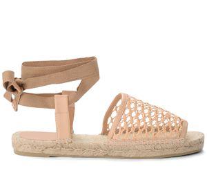 Sandale espadrilles Paz en cuir et coton couleur naturel - Castañer - Modalova