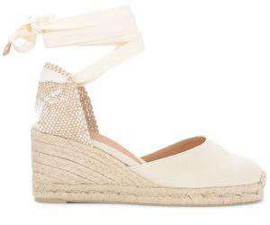 Sandale avec semelle compensée Carina ivoire - Castañer - Modalova