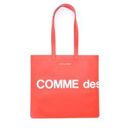 Shopper Huge Logo en cuir rouge - Comme des Garçons Wallet - Modalova