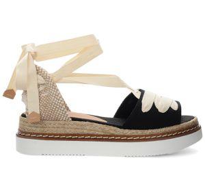 Sandalo espadrillas Wilka in cotone nero - Castañer - Modalova