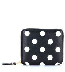 Portefeuille en cuir noir pointillé blanc - Comme des Garçons Wallet - Modalova